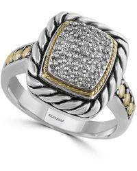 Effy - 18k Yellow Gold, Sterling Silver & Diamond Ring - Lyst