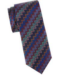 Missoni - Chevron Silk Tie - Lyst