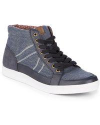 Ben Sherman - Printed Mid-top Sneakers - Lyst