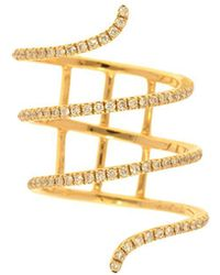 Nephora - 14k Yellow Gold And Diamonds Wrap Ring - Lyst