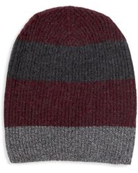 Saks Fifth Avenue - Colorblock Cashmere Beanie - Lyst