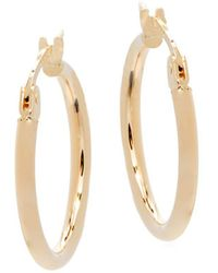 "Saks Fifth Avenue - 14k Yellow Gold Hoop Earrings/0.75"" - Lyst"
