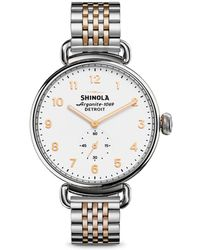 Shinola - Canfield Two-tone Stainless Steel Bracelet Watch - Lyst