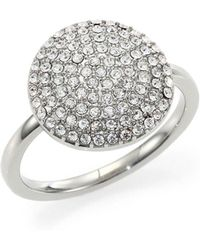 Michael Kors - Brilliance Statement Pavé Disc Ring - Lyst