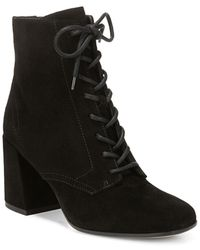 Vince - Halle Square Toe Suede Booties - Lyst