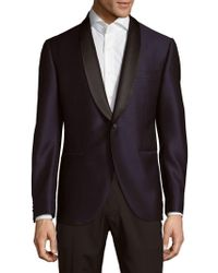 Lubiam - Navy Wool Jacket - Lyst