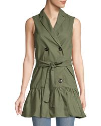 English Factory - Belted Sleeveless Jacket - Lyst