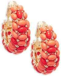 Kenneth Jay Lane - Clustered Clip-on Earrings - Lyst