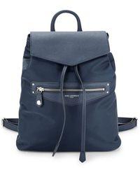 Karl Lagerfeld - Leather-trimmed??nylon Drawstring Backpack - Lyst