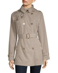 MICHAEL Michael Kors - Missy Packable Trench Coat - Lyst