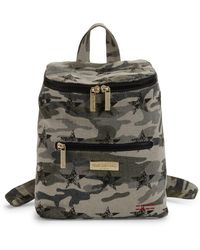 Peace Love World - Camouflage Logo Cotton Backpack - Lyst