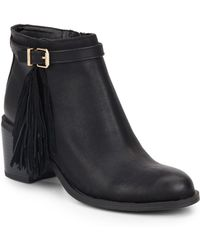 Circus by Sam Edelman - Jolie Leather Fringe Booties - Lyst