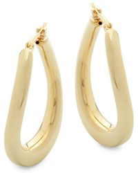 Saks Fifth Avenue - 14k Yellow Gold Hoops - Lyst