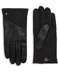 Roberto Cavalli - Leather Panel Gloves - Lyst