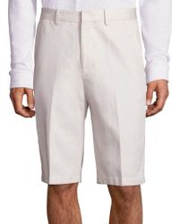 Vince - Relaxed-fit Cotton Linen Shorts - Lyst