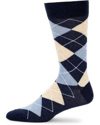 Saks Fifth Avenue - Four Square Argyle Crew Socks - Lyst