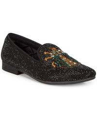 48d3d6f4ed0f Steve Madden - P-scarab Embellished Smoking Slippers - Lyst