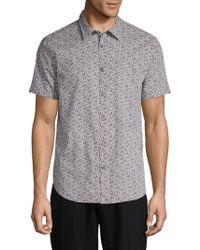 John Varvatos - Printed Short-sleeve Woven Shirt - Lyst