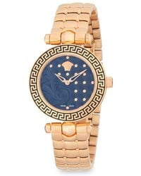 285a8ed343d Versace - Studded Stainless Steel Analog Bracelet Watch - Lyst