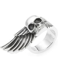 King Baby Studio - Skull & Wing Sterling Silver Ring - Lyst