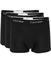 26e4a3aa40c7 Calvin Klein - 3-pack Logo Boxer Briefs - Lyst