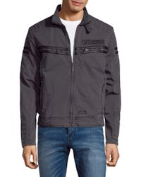 Affliction - Embroidered Logo Cotton Jacket - Lyst