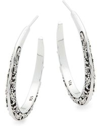 Lois Hill - Sterling Silver Hoop Earrings - Lyst