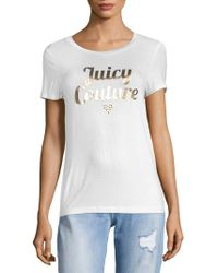Juicy Couture - Metallic Logo Short Sleeve T-shirt - Lyst
