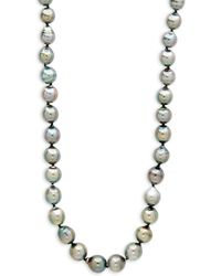 Tara Pearls - 9-11mm Black Baroque Pearl And Sterling Silver Necklace - Lyst