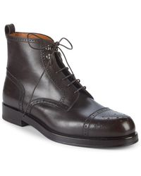 Bally - Nordal Leather Ankle Boots - Lyst