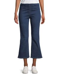 Free People - High-waisted Pull-on Cropped Jeans - Lyst