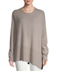 Saks Fifth Avenue - Asymmetrical Cashmere Sweater - Lyst