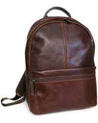 Boconi - Slim Leather Backpack - Lyst