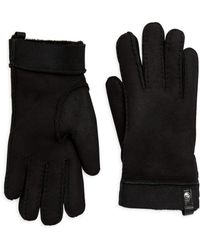 UGG - Stormy Leather Tenney Gloves - Lyst