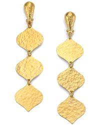 Gurhan - Clove 24k Yellow Gold Triple-drop Earrings - Lyst