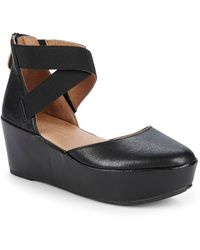 Gentle Souls - Nyssa Leather Wedge Sandals - Lyst