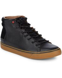 UGG - Hoyt Leather Sneakers - Lyst