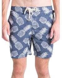 Original Paperbacks - Pool Side Swim Pineapple-print Board Shorts - Lyst