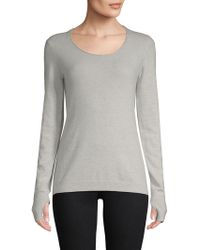 INHABIT - Cashmere Blend Ribbed Pullover - Lyst