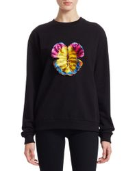 Mary Katrantzou - Saker Cotton Embellished Sweatshirt - Lyst