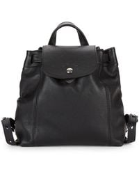 e57f142143b5 Longchamp 2.0 Medium Leather Backpack in Black - Lyst
