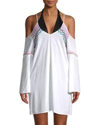 La Blanca - Spice Embroidered Tunic - Lyst