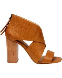 Splendid - Danett Textured Leather Sandals - Lyst