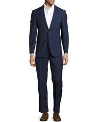 CALVIN KLEIN 205W39NYC - Plaid-pattern Woolen Suit - Lyst
