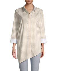 Lafayette 148 New York - Rosamund Gingham Button-front Shirt - Lyst