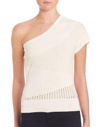 Ohne Titel - Knit One-shoulder Top - Lyst