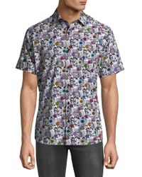 Jared Lang - Floral Short Sleeve Button Down Shirt - Lyst