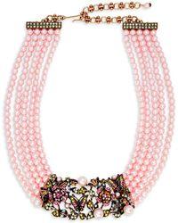 Heidi Daus - Faux Pearl And Swarovski Crystal Garden Multi-strand Necklace - Lyst