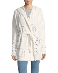 Free People - Oh Pretty Daze Cotton Cardigan - Lyst