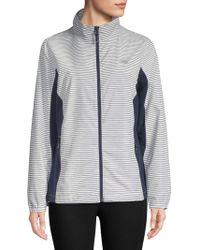 New Balance - Striped Full-zip Jacket - Lyst